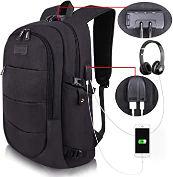 Amazon.com: Travel Laptop Backpack Water Resistant Anti-Theft Bag with USB  Charging Port and Lock 14/15.6 Inch Computer Business Backpacks for Women  Men College School Student Gift,Bookbag Casual Hiking Daypack: Computers   Accessories